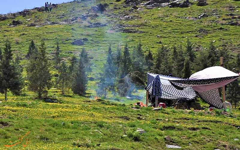 نمایی بهاری از ییلاقان روستای عنبران مشهد