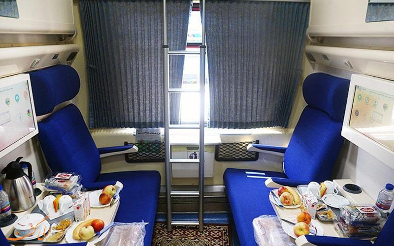 عکس کوپه قطار غدیر