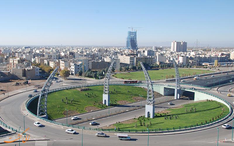 نمایی کلی از شهر قزوین
