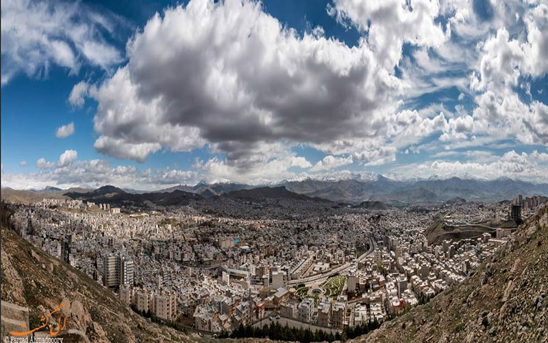 جاهای دیدنی سنندج و عکس نمای شهر